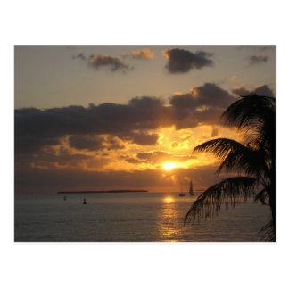 Puesta del sol Key West, la Florida Postales