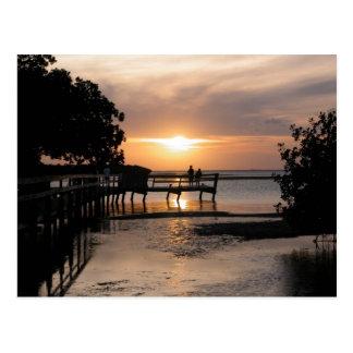 Puesta del sol Key West la Florida Postal