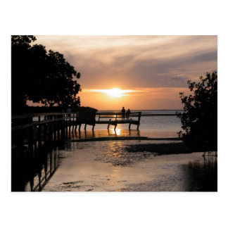 Puesta del sol Key West la Florida Tarjetas Postales