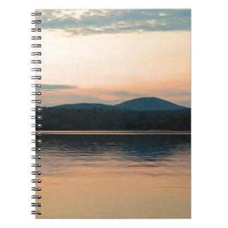 Puesta del sol larga del lago Adirondacks Libro De Apuntes