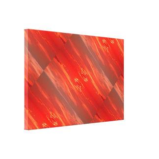 Puesta del sol: Lona roja 2 del escarlata Impresion En Lona