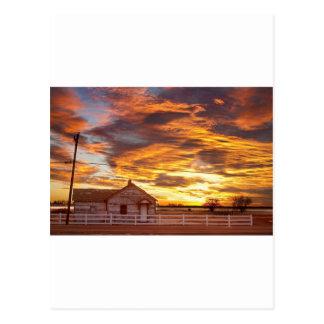 Puesta del sol Longmont Colorado Boulder Cou de la Postal