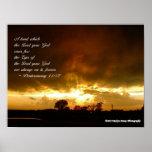 Puesta del sol los ojos del 11:12 de Deut de dios Posters