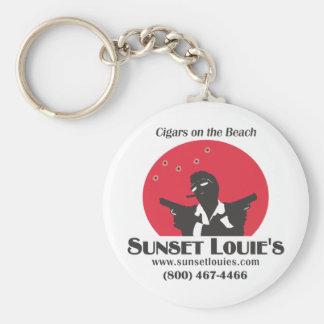 Puesta del sol Louies Llavero Redondo Tipo Pin
