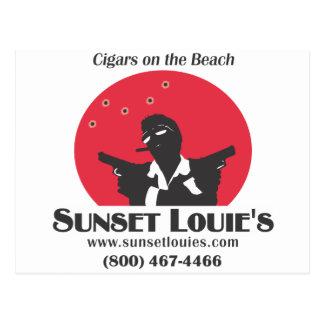 Puesta del sol Louies Tarjeta Postal