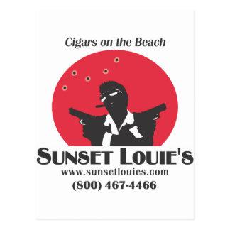 Puesta del sol Louies Tarjetas Postales