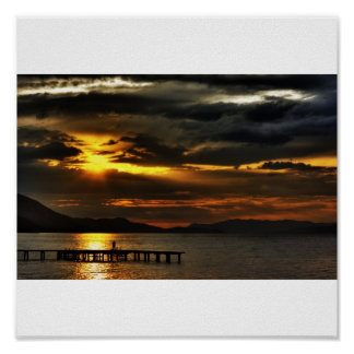 puesta del sol mágica póster