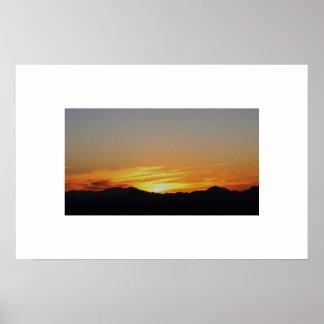 Puesta del sol magnífica de Arizona Posters
