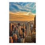 Puesta del sol magnífica en Manhattan, New York Papeleria