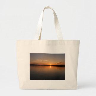 Puesta del sol Maine del lago Madawaska Bolsa Lienzo