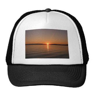 Puesta del sol Maine del lago Madawaska Gorra