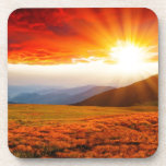 Puesta del sol majestuosa en el paisaje 5 de las m posavasos