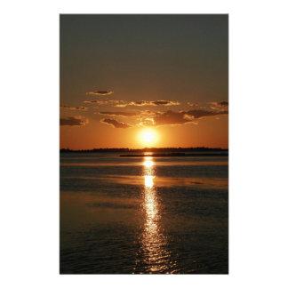 Puesta del sol maravillosa  papeleria