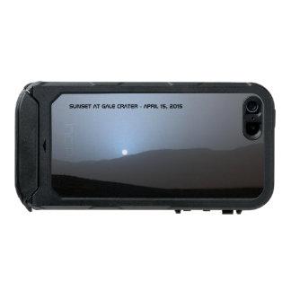 Puesta del sol marciana azul carcasa de iphone 5 incipio atlas id