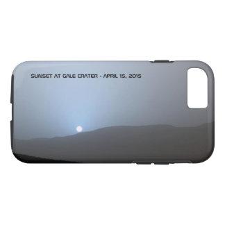 Puesta del sol marciana azul funda iPhone 7