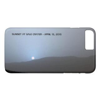 Puesta del sol marciana azul funda iPhone 7 plus