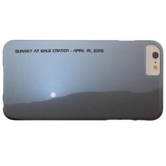 Puesta del sol marciana azul funda para iPhone 6 plus barely there