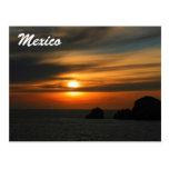 puesta del sol mexicana postal