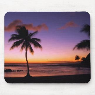 Puesta del sol Mousepad de Kauai Hawaii