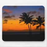 Puesta del sol Mousepad de Kauai Hawaii Tapetes De Raton