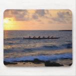 Puesta del sol Mousepad de la canoa de soporte de  Tapete De Raton