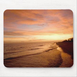Puesta del sol Mousepad de la isla de Sanibel