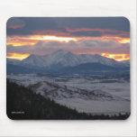 Puesta del sol Mousepad de la montaña de Colorado Tapetes De Ratón