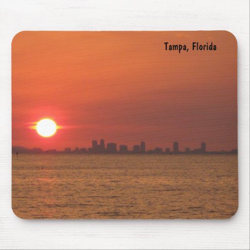 Puesta del sol Mousepad de Tampa, la Florida