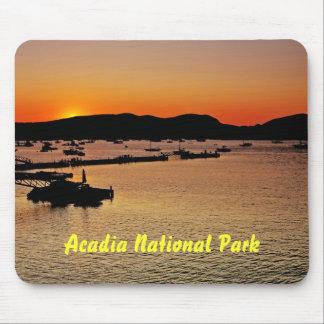 Puesta del sol Mousepad del Acadia Tapete De Ratón