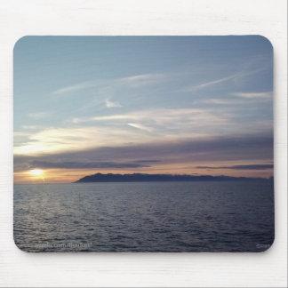 Puesta del sol Mousepad del océano
