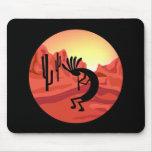 Puesta del sol Mousepad del sudoeste de Kokopelli Alfombrilla De Ratón