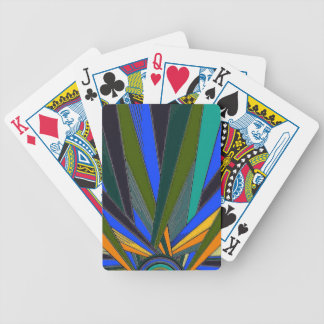 Puesta del sol múltiple del color cartas de juego