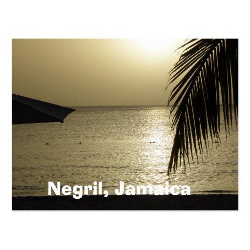 Puesta del sol: Negril, postal de Jamaica
