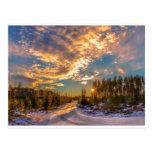 puesta del sol Noruega Postal