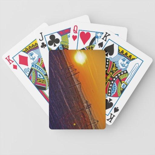 Puesta del sol nuclear baraja cartas de poker