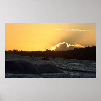 puesta del sol number2 póster