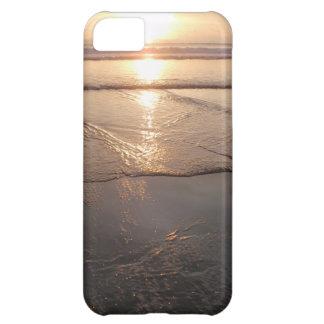 Puesta del sol oscura tropical de la playa funda para iPhone 5C