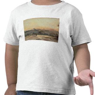 Puesta del sol otoñal camiseta