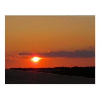 Puesta del sol Outer Banks Tarjeta Postal