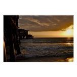 Puesta del sol pacífica en Santa Mónica Impresiones