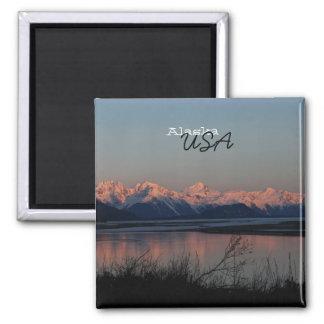 Puesta del sol pacífica; Recuerdo de Alaska Iman Para Frigorífico
