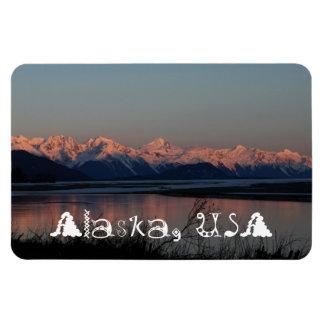 Puesta del sol pacífica; Recuerdo de Alaska Imán De Vinilo