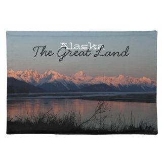 Puesta del sol pacífica; Recuerdo de Alaska Manteles Individuales