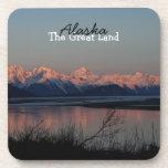 Puesta del sol pacífica; Recuerdo de Alaska Posavaso