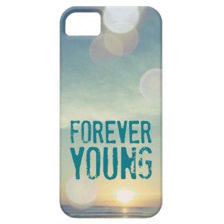 Puesta del sol para siempre joven iPhone 5 Case-Mate protector