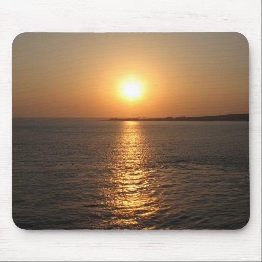 Puesta del sol Paros Grecia Mousepad Alfombrillas De Ratones