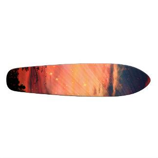 Puesta del sol tabla de skate
