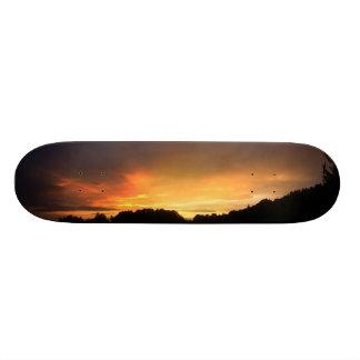 Puesta del sol patineta personalizada