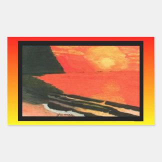 Puesta del sol Pegatina-Brillante de NaPali