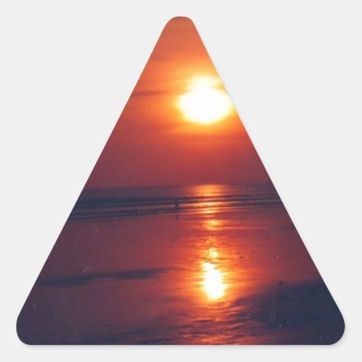 Puesta del sol pegatinas triangulo personalizadas